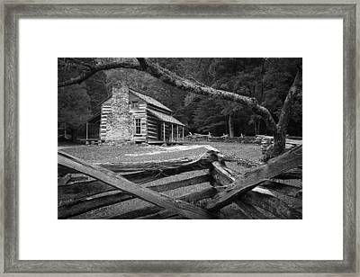 Oliver's Cabin In The Great Smokey Mountains Framed Print