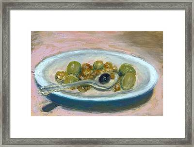 Olives Framed Print by Scott Bennett