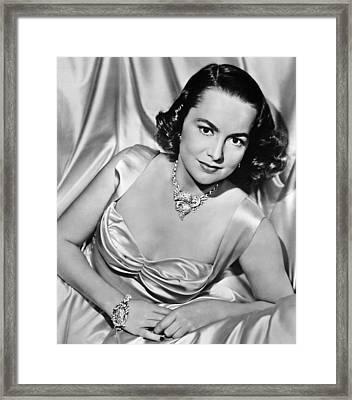 Olivia De Havilland, 1940s Framed Print