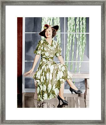 Olivia De Havilland, Ca. 1937 Framed Print by Everett