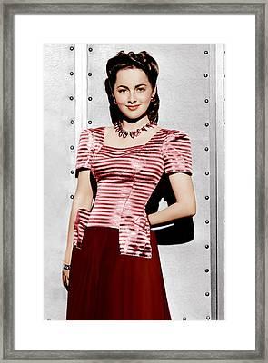 Olivia De Havilland, Ca. 1942 Framed Print by Everett