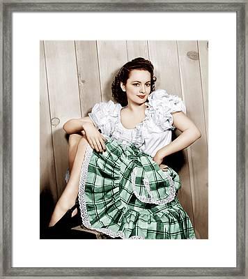 Olivia De Havilland, Ca. 1948 Framed Print by Everett
