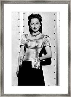 Olivia De Havilland, Warner Bros Framed Print by Everett