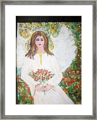 Olivia The Angel Framed Print