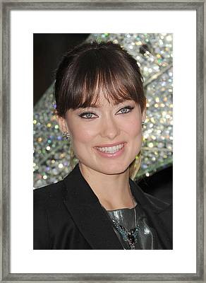 Olivia Wilde At A Public Appearance Framed Print by Everett