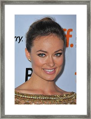 Olivia Wilde At Arrivals For Butter Framed Print by Everett