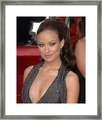 Olivia Wilde At Arrivals For The 67th Framed Print by Everett