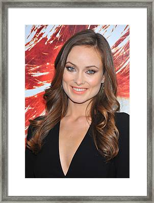 Olivia Wilde At Arrivals For The Next Framed Print by Everett