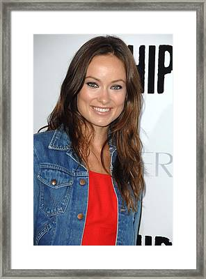 Olivia Wilde At Arrivals For Whip It Framed Print by Everett