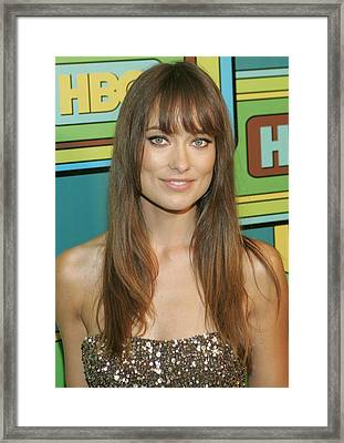 Olivia Wilde At The After-party Framed Print by Everett