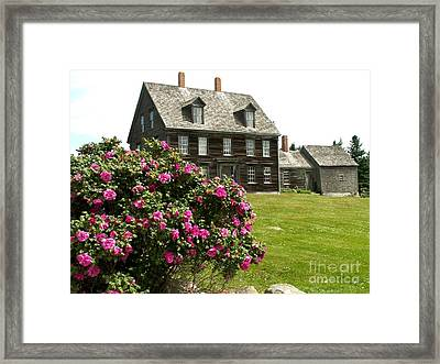 Olson House With Flowers Framed Print by Theresa Willingham