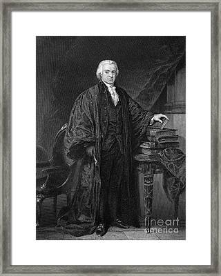 Olvier Ellsworth (1745-1807). Chief Justice Of The United States Supreme Court, 1796-1799. Steel Engraving, 1863 Framed Print