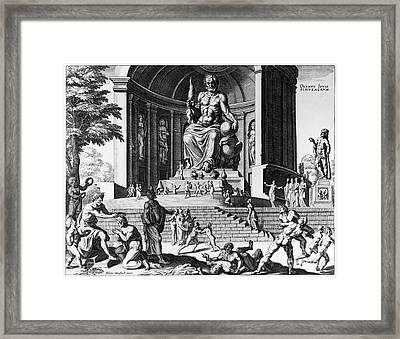 Olympia: Statue Of Zeus Framed Print by Granger