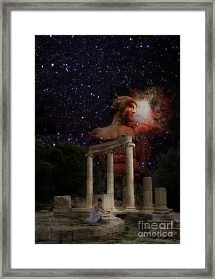 Olympia's Temple Framed Print by Pavlos Vlachos