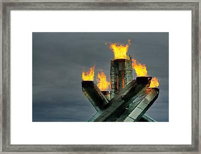 Olympic Cauldron Framed Print by Sandra Sigfusson