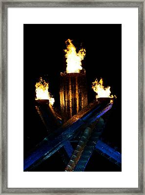 Olympic Flame Framed Print by Ivan SABO