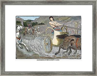 Olympic Games, Antiquity Framed Print by Granger