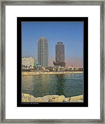 Framed Print featuring the photograph Olympic Harbor Towers by Pedro L Gili