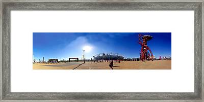 Olympic Park  Framed Print by Keith Sutton