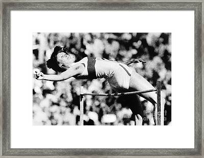 Olympic Pole Vault, 1972 Framed Print