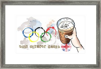 Olympic Rings Framed Print by Mark Armstrong