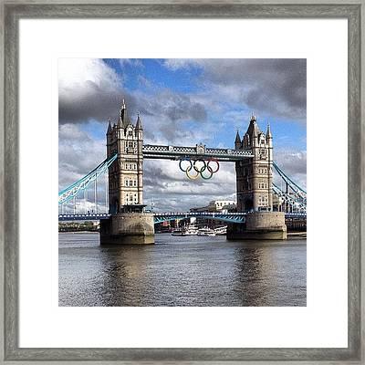 Olympic Rings On Tower Bridge #london Framed Print