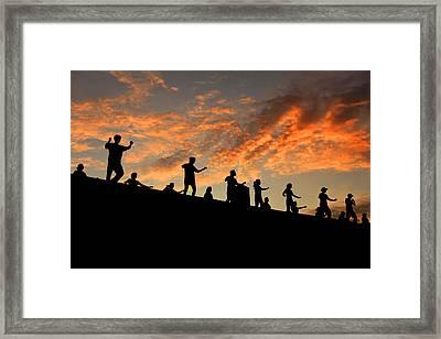 Olympic Stadium At Sunrise Framed Print by Francisco De Souza