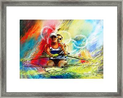 Olympics Rowing 03 Framed Print by Miki De Goodaboom