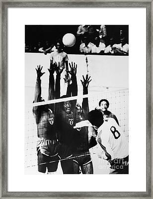 Olympics: Volleyball, 1976 Framed Print