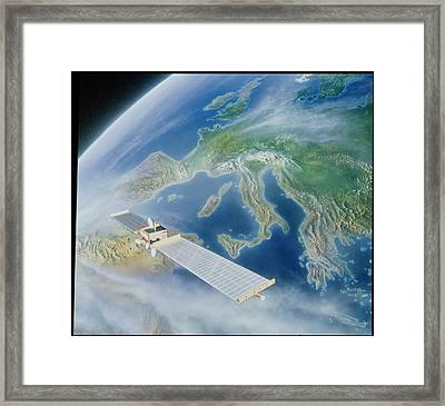 Olympus Class Satellite Framed Print