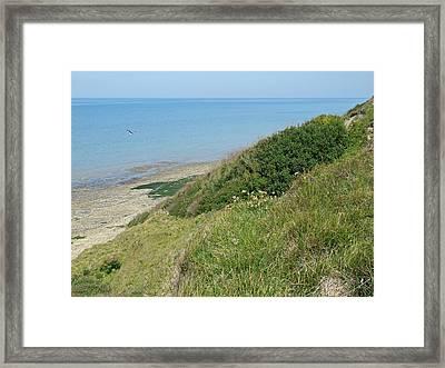 Omaha Beach Port En Bessin Huppain France  Framed Print by Joseph Hendrix
