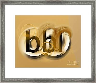 Omg Bbl Framed Print by Linda Seacord