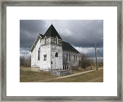 Ominous Church Framed Print
