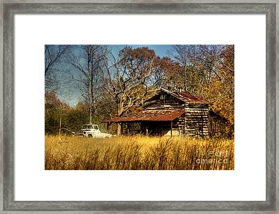 On A Back Road Framed Print by Benanne Stiens