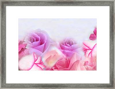On A Bed Of Roses Framed Print by Cindy Lee Longhini