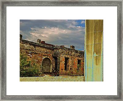 Framed Print featuring the photograph On A Downtown Street In Southwest Texas by Louis Nugent