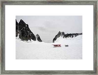 On A Glacier Framed Print by Gary Rose
