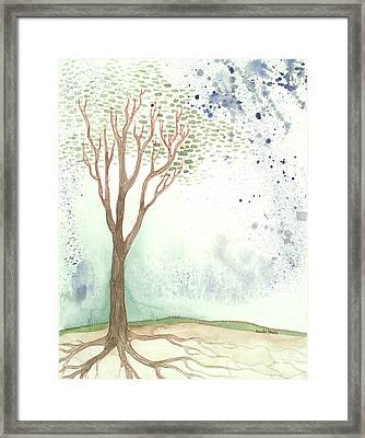 On A Hill Framed Print by Annette Janelle Provenzo