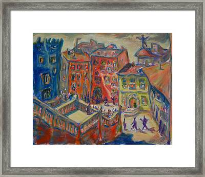On A Latte Afternoon Framed Print by Yen