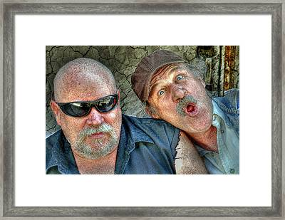 On A Napanee Stoop One Day Framed Print