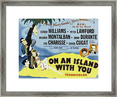 On An Island With You, Peter Lawford Framed Print by Everett
