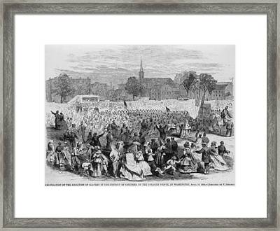 On April 19, 1866, African Americans Framed Print by Everett