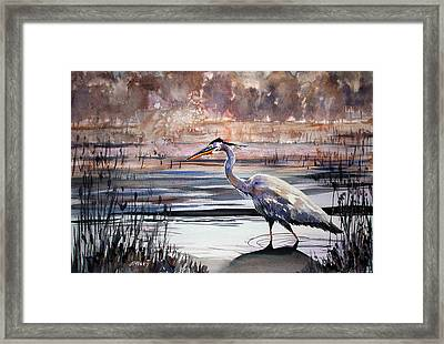 On Blue Bayou  Framed Print