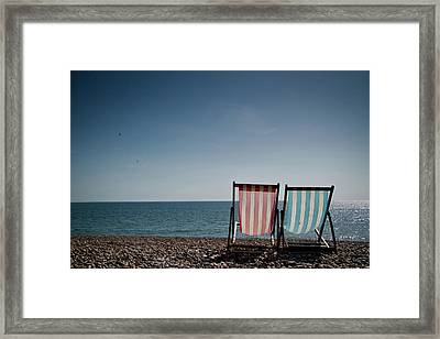 On Brighton Beach Framed Print by SVGiles