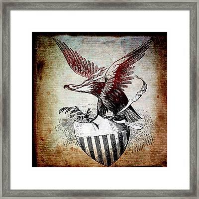 On Eagles Wings Framed Print by Angelina Vick