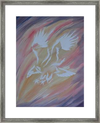 On Eagles Wings Framed Print