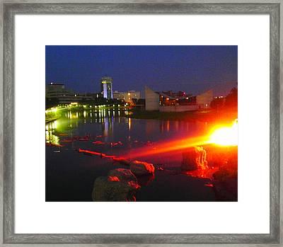 On Fire Framed Print by David Alvarez