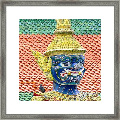On Guard.. #thailand #travel Framed Print