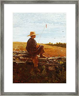 On Guard Framed Print by Wisnlow Homer