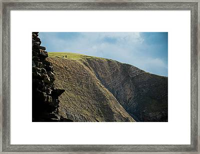 Framed Print featuring the photograph On Hills They Walk by Justin Albrecht